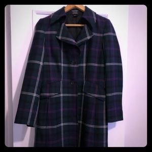 Ellen Tracy for Bloomingdales Plaid Coat